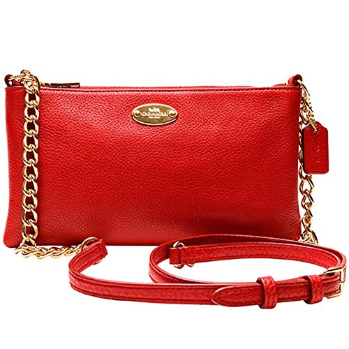 Coach Pebbled Leather Quinn Crossbody Bag F52709 Classic Red