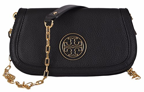 Tory Burch Women's Black Leather Amanda Crossbody Purse