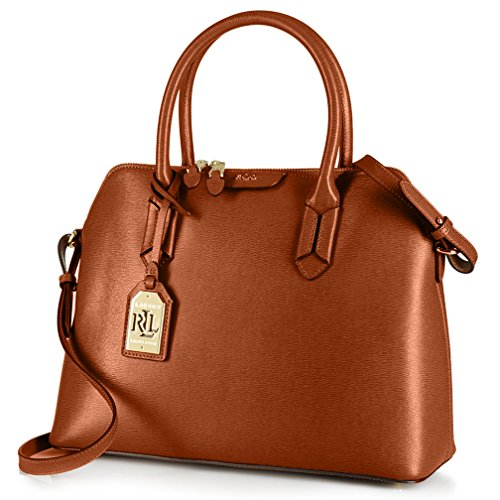 Lauren Ralph Lauren Womens Tate Dome Satchel (Lauren Tan/Cocoa)