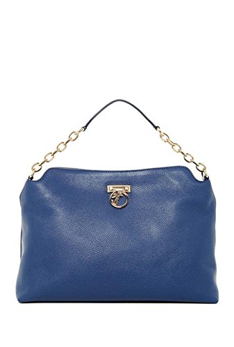 Versace Fold-lock Leather Shoulder Bag