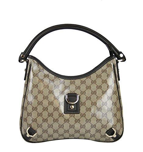 Gucci Beige Crystal Abbey Hobo Bag D Ring Handbag 268637 9903