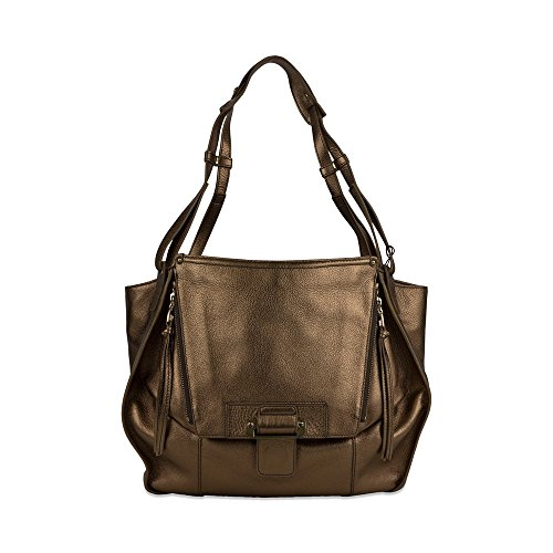 Kooba Zoey Pouch Pocket Shoulder Bag in Metallic Bronze