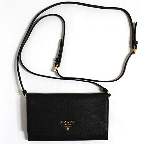 Prada Saffiano Metal Wallet With Detachable Strap Wrsitlet Wallet Handbag