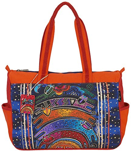 Laurel Burch Once In A Blue Moon Medium Tote Bag 5512