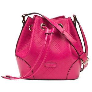 Gucci Bright Diamante Bag Blossom Pink Drawstring Authentic New