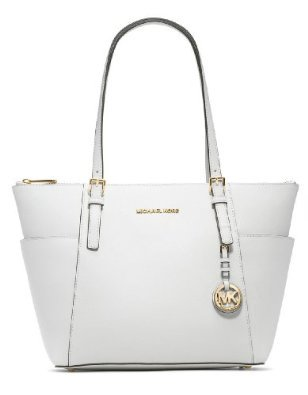 Michael Kors Jet Set East West Women's Tote Bag Handbag Purse White