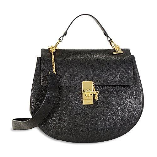 Chloe Drew Leather Shoulder Bag – Black