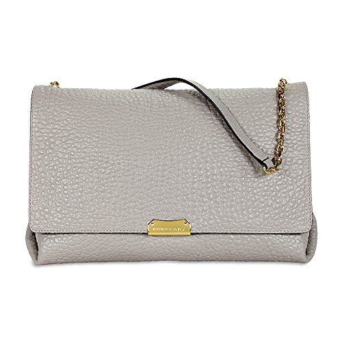 Burberry Large Signature Grain Leather Shoulder Bag – Pearl Grey