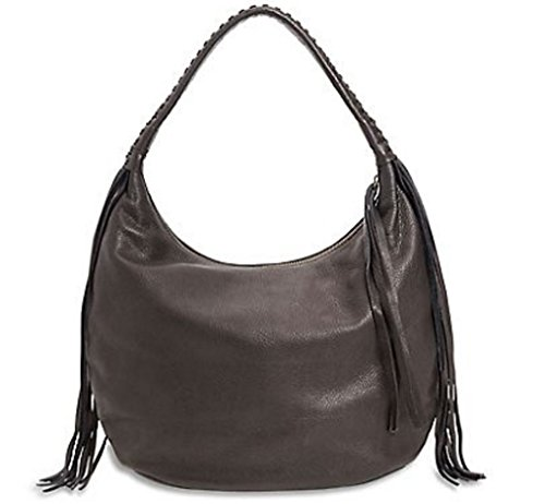 Lucky Brand The Route Black Leather Hobo Handbag
