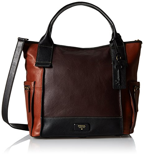 Fossil Emerson Satchel Bag, Brown, One Size