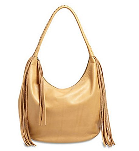 Lucky Brand The Route Light Brown Leather Hobo Handbag