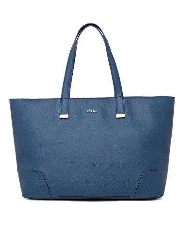 Furla Stacy Large Tote Handbag Indaco