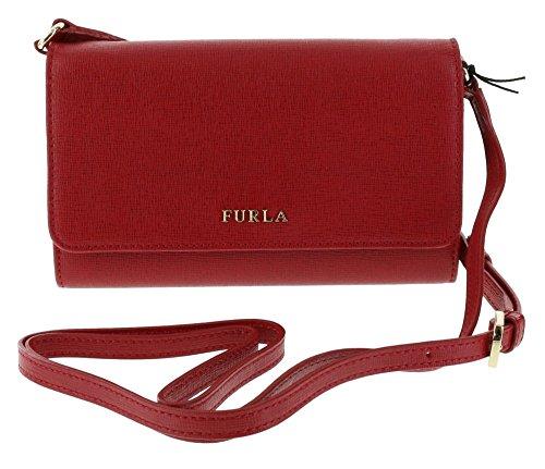 Furla Saffiano Leather MIKY Shoulder Bag/Crossbody Bag/Handbag/Wallet/Clutch in Cabernet 017/Red