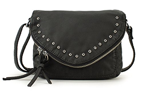 Scarleton Chic Zipper Flap Crossbody Bag H1716