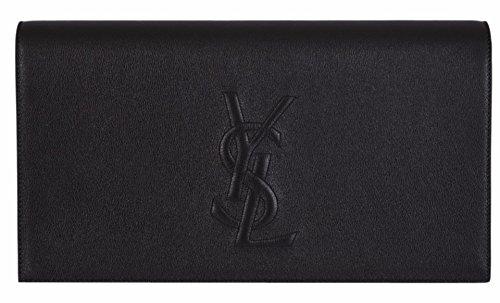 YSL Yves Saint Laurent Women's Black Leather Large Belle de Jour Clutch