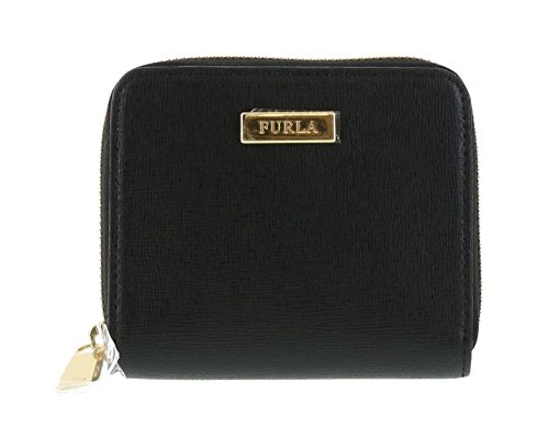 Furla Saffiano Leather Classic Zip-around Wallet in Onyx (001)