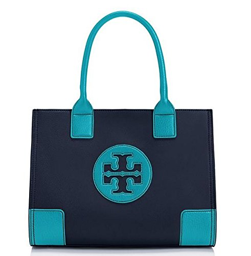 Tory Burch Tote Navy Mini Ella Tb Logo Handbag