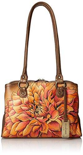 Anuschka Triple Compartment Medium Top Handle Bag