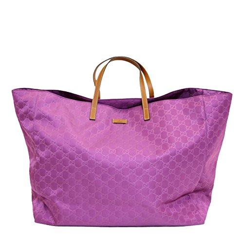 Gucci Guccissima Purple Nylon Xl Tote Handbag 286198/5567