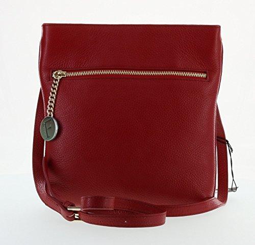 Furla Julia Pebbled Leather Cross Body Shoulder Bag (Cabernet 017)