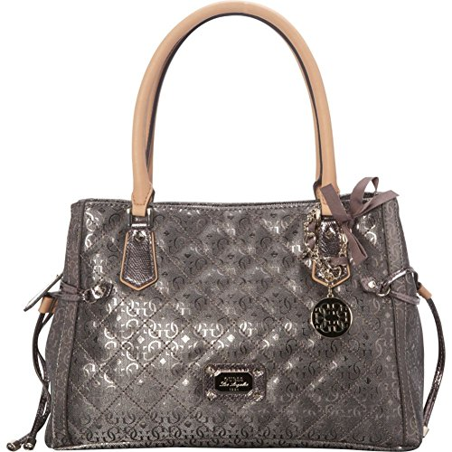 GUESS Juliet Girlfriend Satchel (Pewter)
