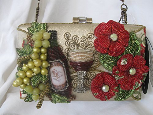 Mary Frances Cheers V1 Rare Handmade Beaded Jeweled Handbag Purse Shoulder Bag