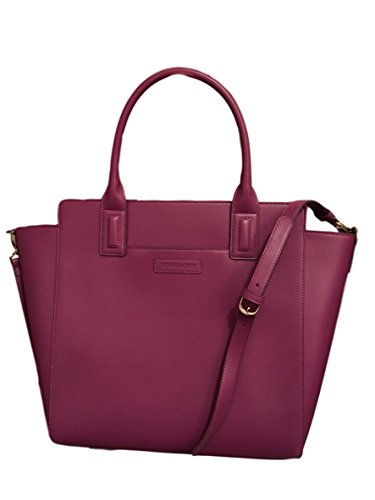 Gorgeous Vera Bradley Large Handbag Tote in Plum Faux Leather Collection LIMITED EDITION