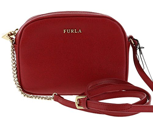 Furla Cross Body/Shoulder MIKY Saffiano Leather Handbag Purse in Cabernet (017)