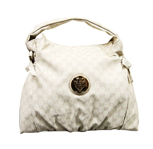 Gucci Cream White Medium Canvas Hysteria Handbag Top Handle Bag