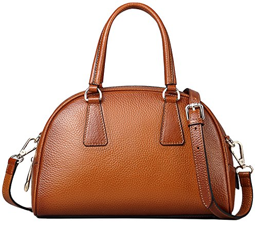 Heshe Cowhide Soft Leather Classic Casual Personality Tote Top-handle Shoulder Handbag Cross Body Purse Hot Sell