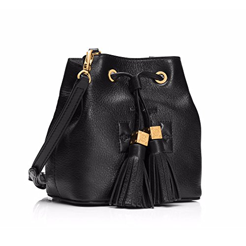 Tory Burch Crossbody Tassel Thea Black Leather