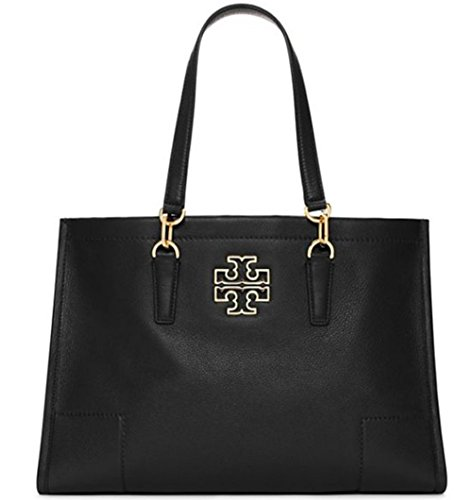 New With Tag Tory Burch BRITTEN TOTE Large Black handbag bag retail price$525