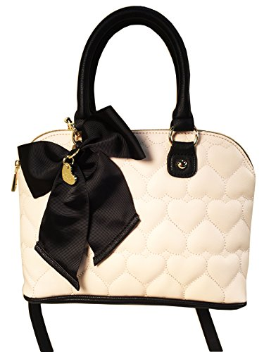 Betsey Johnson Medium Dome Satchel Tote Handbag