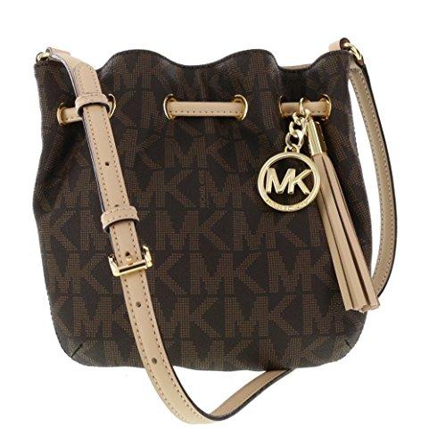 Michael Kors PVC Crossbody Ring Tote Handbag in Brown