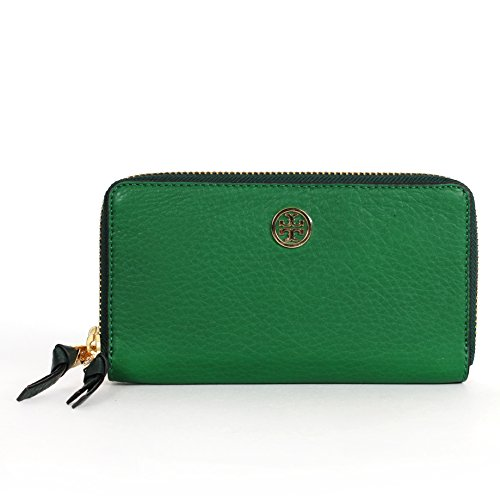 Tory Burch Robinson Double-zip Continental Wallet Emerald Stone/green