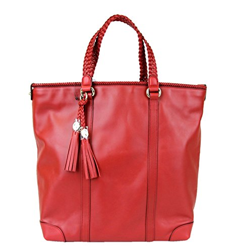 Gucci Marrakech Leather Red Tote Handbag Shoulder Bag 336660 6420