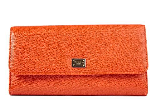 Dolce&Gabbana women's leather handbag shopping bag purse orange
