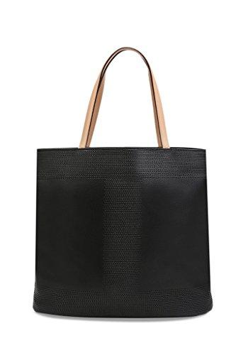 Isaac Mizrahi Designer Handbags: Leather Kay Sqaure Perf Tote