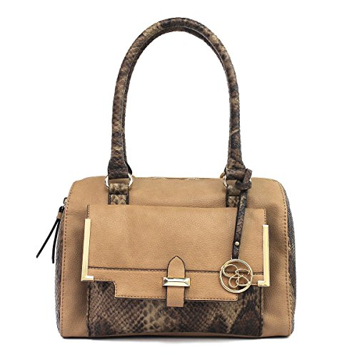 Jessica Simpson Frances Satchel (Sand/Whiskey Python)