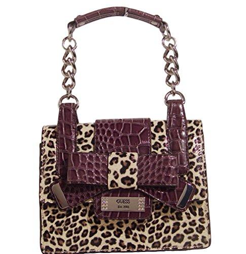 Guess Laura Leopard Hobo Bag Handbag Purse