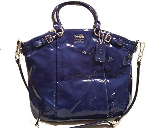 Coach Madison Patent Gloss Leather Lindsey Satchel Shoulder Bag 18627 Ultramarine