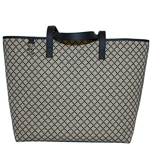 Gucci Diamante Large Canvas and Leather Tote Bag 211525, Black