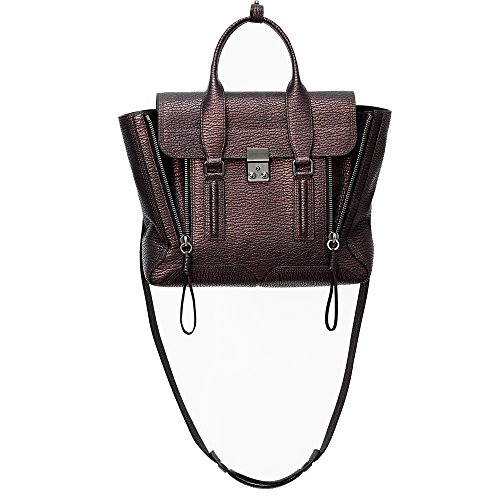 3.1 Phillip Lim Pashli Black-Bronze Medium Satchel