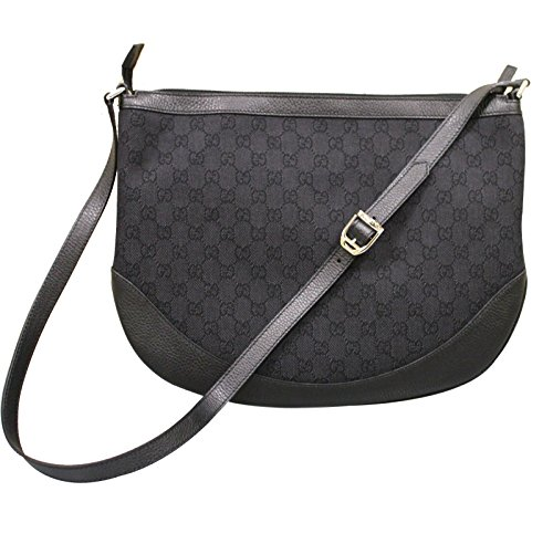 Gucci Black Canvas Crossbody Messenger Bag Handbag 272380