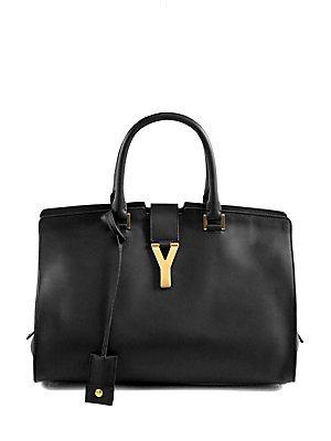 Yves Saint Laurent 'Ligne Y' Leather Satchel (Nero) Black