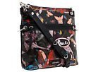 The Sak Artist Circle Crossbody Handbag Black Peace Print
