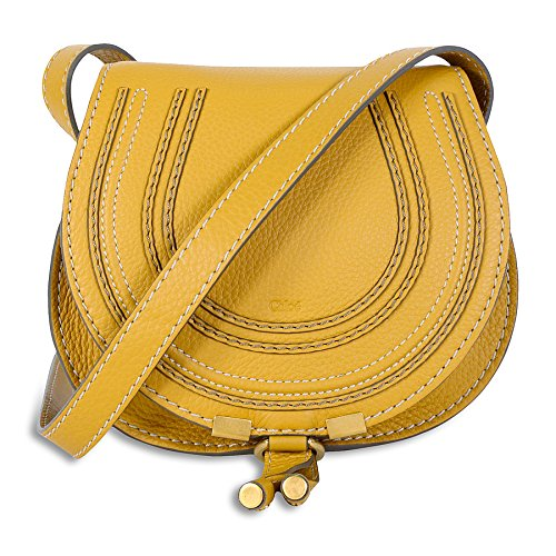 Chloe Marcie Small Saddle Leather Handbag – Curry Yellow