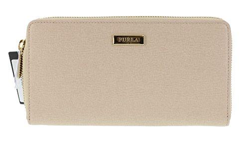 Furla Saffiano Leather Classic Clutch Handbag Wallet in Acero (021)