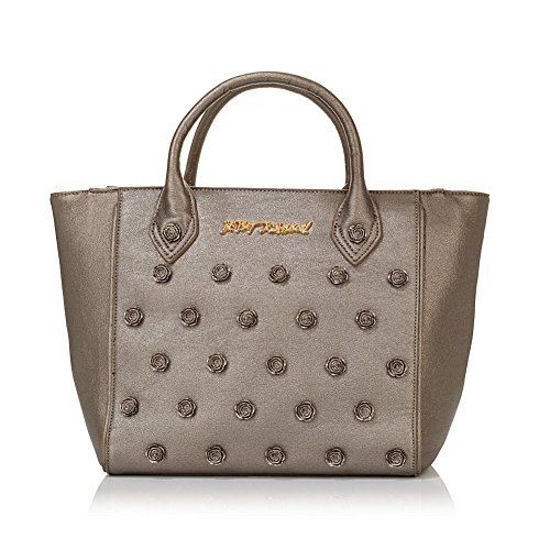 Betsey Johnson Smell the Roses Tote, Pewter