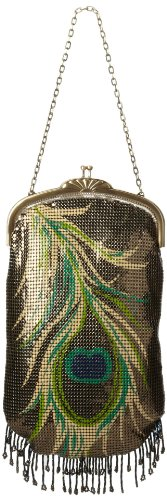 Whiting & Davis Peacock Evening Bag